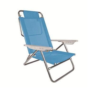 Cadeira Alumínio Sol De Verão Fashion Reclinável 6 Posições 2115 Cores Sortidas Mor