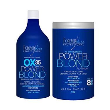Imagem de Forever Liss Power Blond Kit Pó Descolorante 450G + Água Oxigenada 35 Volumes 900Ml