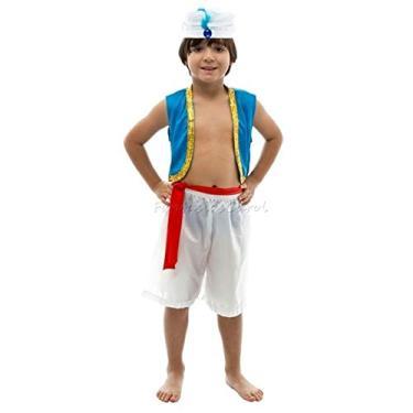 Fantasia Aladdin Infantil Arabias Com Turbante G 9-12