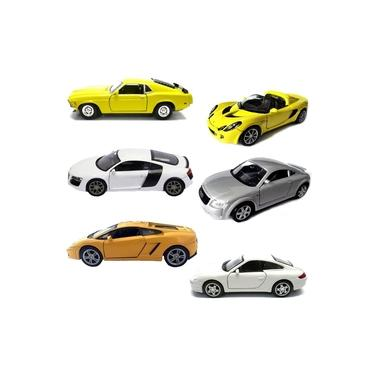 Imagem de Kit 6 Miniatura Carro Porsche Audi Lamborghini Coleção