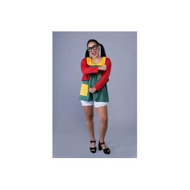Imagem de Fantasia Chiquinha Adulta Turma Do Chaves Adulta + óculos
