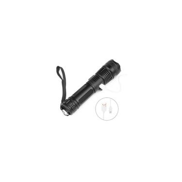 Lanterna Tocha Tactical Flashlight Usb Chargable Zoomable Bike Light-LU