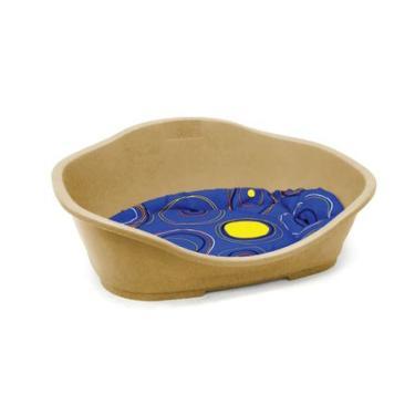 Cama Plástica Chalesco Tamanho 2 55x37x26 cm Almofada Azul