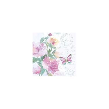 Guardanapo para Decoupage Floral Aquarelado 33X33CM