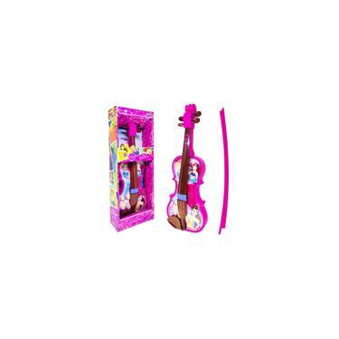 Imagem de Brinquedo De Menina Princesas Disney Violino Infantil Rosa