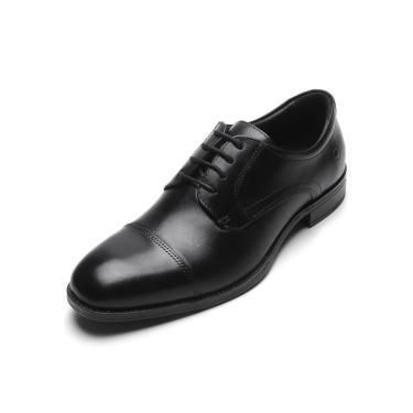 Sapato Social Couro Democrata Liso Preto Democrata 230102-001 masculino