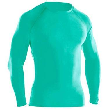 Camisa Térmica Proteção UV Ayron Fitness Manga Longa (G, Azul turqueza)