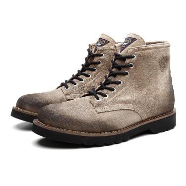 Bota Coturno Masculino Dublin Camurça Casual Black Boots