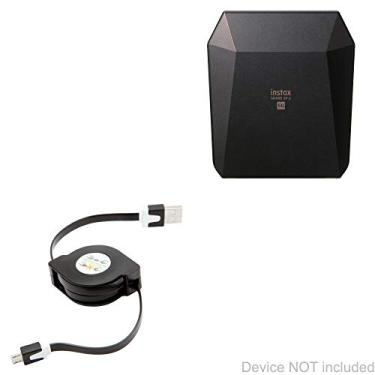 Cabo Fujifilm Instax Share SP-3, BoxWave [miniSync] retrátil, cabo de sincronização portátil para Fujifilm Instax Share SP-3