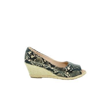 Sapato Peep Toe Feminino Anabela Silvania Cobra Aretta 00373