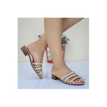 Tamanco Mouser Shoes Verniz Areia Feminino St33225