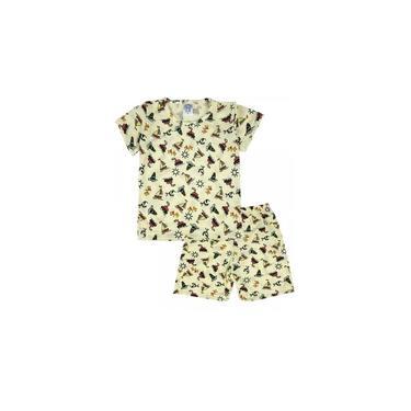 Conjunto Pijama Infantil Barquinhos Amarelo Sapekinhas - SK1005-AM