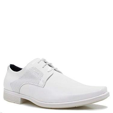 Sapato Masculino Ferracini Social Branco Bragança 2b210e02e9b