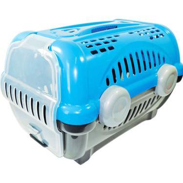 Caixa de Transporte Furacão Pet Luxo Azul - Tam. 01