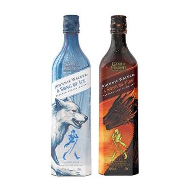 Kit Whisky Game Of Thrones -  Song Of Fire e Song Of Ice - Johnnie wal