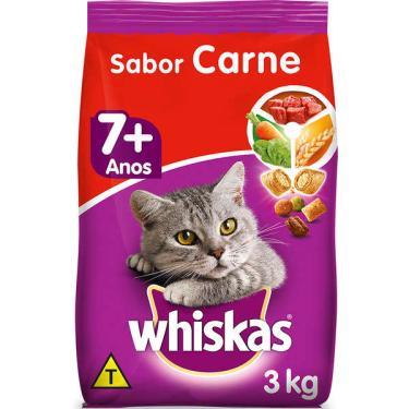 Ração Whiskas Carne 7+ Anos Gatos Adultos - 3 Kg