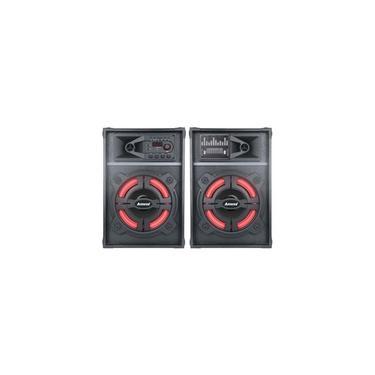 Caixa Amplificada Amvox Led Bluetooth USB Auxiliar Bivolt 1200W ACA 1212 BATIDAO