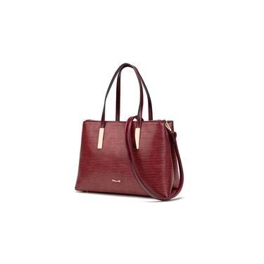 Bolsa Feminina de Mão com Textura Pallas Vinho