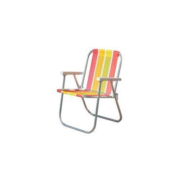 Cadeira Praia/Varanda Alta CAD0047 Botafogo Alumínio Cores Sortidas