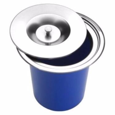 Lixeira Pia Cozinha Embutir 5 Litros Inox - Sollux