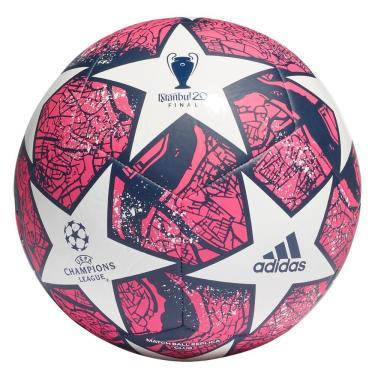 Bola Futebol Campo Adidas UEFA Champions League Istanbul FH7377, Cor: Rosa/Azul Marinho, Tamanho: 5
