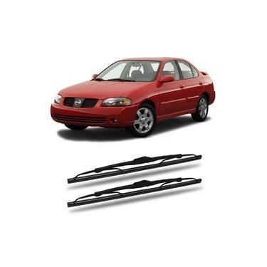 Limpador de Parabrisas Nissan Sentra 2005 a 2006 Dyna DX Palheta Chuva Dianteira Par