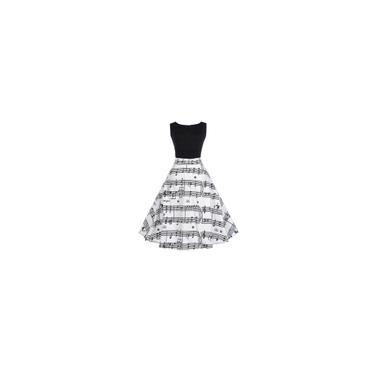 RainmallPadro Nota especial Lady Mulheres vestido vintage Expanso Vestido Vestido