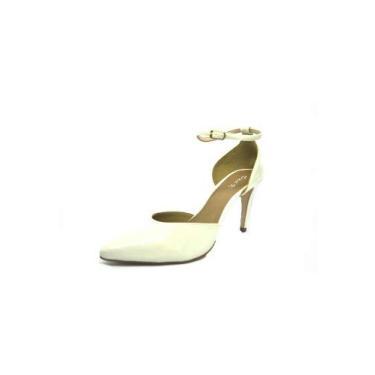 Sapatos Femininos Scarpin Verniz Creme Dani K Tamanho:34;Cor:Creme
