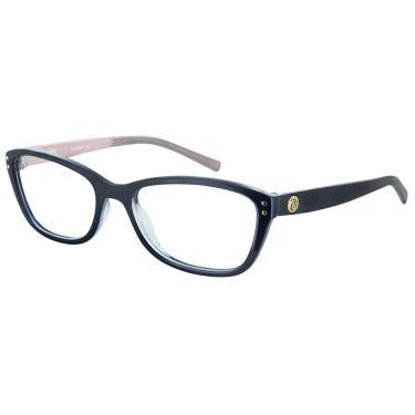 450e9c2424391 Óculos de Grau Capricho Cat Eye 76004 815 48 Azul com Rosa
