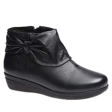 Imagem de Bota Feminina em Couro Roma Preto 158 Doctor Shoes Bota Feminina 158 em Couro Preto Doctor Shoes-Preto-38