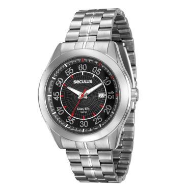 b55bdc5296c Kit Relógio Masculino Seculus Analógico Kit de Engraxar - 20337G0SVNA1 -  Cromado