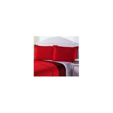 Imagem de Porta Travesseiro Avulso Clean Matelassado 2 Peças Vermelho