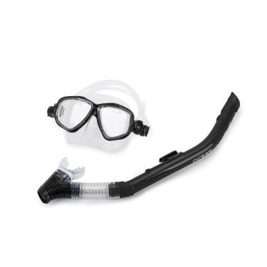 Kit De Máscara E Snorkel Ocean Mormaii / Transparente-Preto