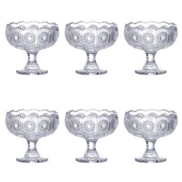 Jogo de taças para sobremesa em cristal ecológico L'Hermitage Versailles 6 peças 150ml