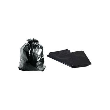 Saco Para Lixo 100 Litros Preto 50 Unidades