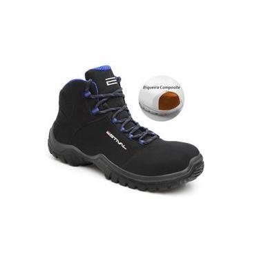 Botina Segurança Preto/Azul Bico de Composite Estival EN10073S2 CA 33942