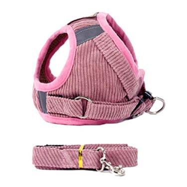 Imagem de Coleira refletiva para animais de estimação Balacoo com cinto de segurança ajustável colete peitoral para cães e gatos (tamanho rosa GG)