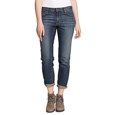 Eddie Bauer Calça jeans feminina estilo boyfriend – perna justa, Baltic (Blue), 8 Petite