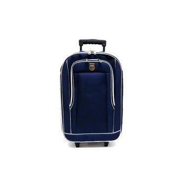 Mala De Viagem Bolso 4 Rodinhas Segredo Batiki Pequena Azul