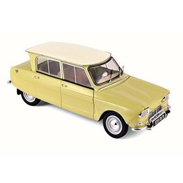 Imagem de 1964 Citroen Ami 6 Naples Yellow 1/18 Diecast Model Car by Norev