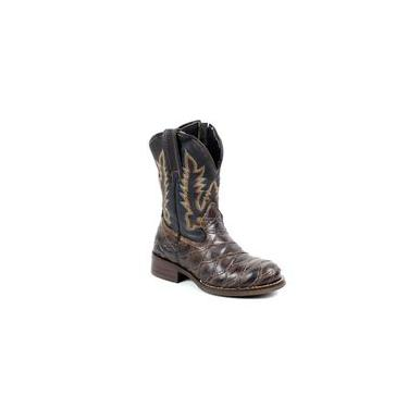 Bota Mr West Boots Kids Fossil Tabaco Escamada Bico Redondo