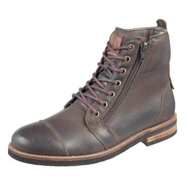 Bota Masculina Shoes Grand Urbano em Couro Verde Militar Tamanho Especial  masculino