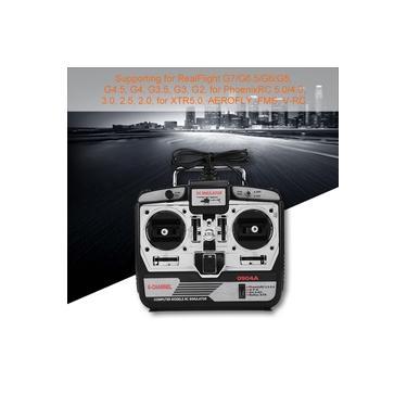 Simulador de vôo RC, 6CH RC Drone Simulator com disco adequado para sistemas WIN10, suporte para helicóptero multi-helicópteros Phoenix 5.0 G7.0 RC