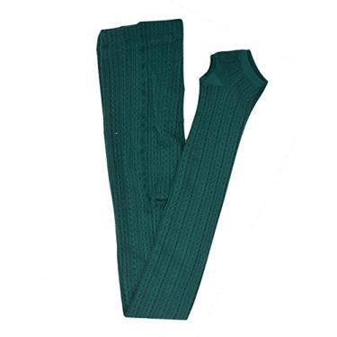 Imagem de Bestgift – Calça legging feminina elástica com mistura de algodão, Dark Green, tamanho �nico