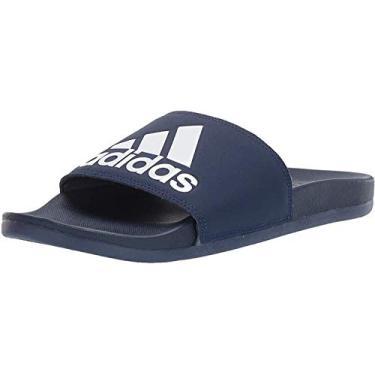 Imagem de Adidas Adilette Comfort Chinelo masculino, Dark Blue/White/Dark Blue, 11
