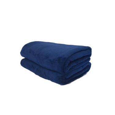 Imagem de Cobertor Microfibra Plush Azul Marinho - Cobertores Parahyba