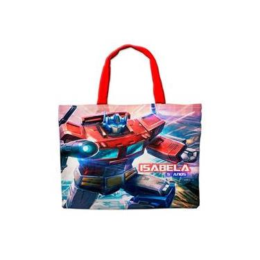 Imagem de Sacolinha em Nylon Personalizada Para Lembrancinha de Festa de Aniversário Tema Transformers Cod0149