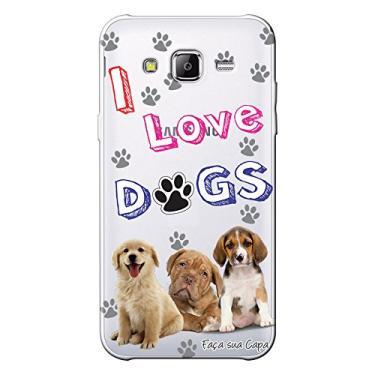 Capa Personalizada para Samsung Galaxy J3 2016 Eu Amo Meu Cachorros - TP69