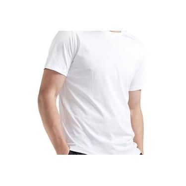 Kit 10 Camisetas Camisa Lisa Unissex Manga Curta Algodão Branco