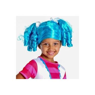 Imagem de Peruca Infantil Cabelo Azul Enrolado Lalaloopsy Boneca Mittens Fluff